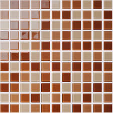 wholesale glass mosaic for swimming pool tile sheet brown crystal