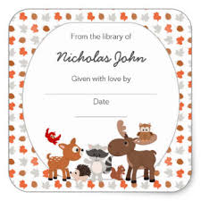 Baby Woodland Animals Baby Shower - baby shower bookplates gifts on zazzle