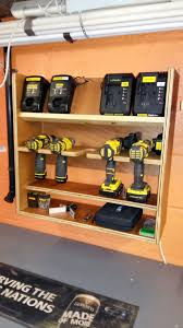 workshop battery drill charging station easy diy plywood project