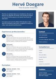 cv design gratuit a telecharger exemple de cv simple et design gratuit à télécharger