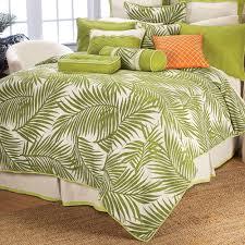Tropical Bedspreads And Coverlets Capri Tropical Palm Duvet Cover Set