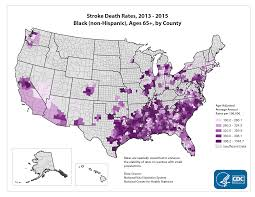 Black Death Map National Map Of Stroke Death Rates Blacks Age 65 Maps Dhdsp Cdc