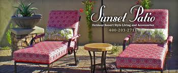 sunset patio photo gallery custom patio furniture accessories