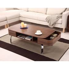 Side Table With Storage by Furniture Of America Lawson Modern Walnut 2 Drawer Coffee Table