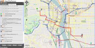 Portland Bus Map by Open Trip Planner Portland Mapsys Info Mapsys Info