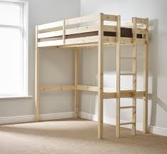 Ft Single SHORT LENGTH Solid Pine HIGH SLEEPER Bunk Bed - Short length bunk beds