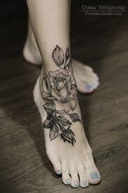 Leg Flower - 65 tattoos for and design