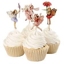 fairy cake topper free shipping 24pcs angel fairy cupcake topper picks kids birthday