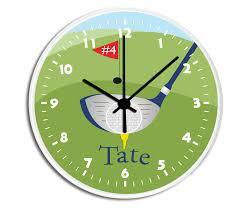 golfer personalized childrens decorative wall clock wall clock