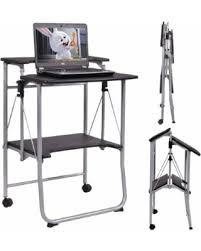 amazing deal on costway folding computer desk laptop pc table