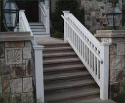 vinyl stair railing kits unique shaped decoration fence pvc stair