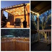 kohree solar powered string lights 120 led 20ft copper wire starry