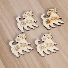10 pcs unfinished wood chips cutouts wooden ornaments zodiac