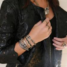 gold chain leather bracelet images Jewels leather bracelets leather bracelet jewelery black jpg