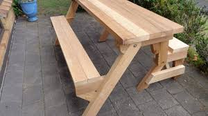 Folding Picnic Table Plans Folding Picnic Table Made Out Of 2x4s Delightful Bench