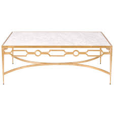 White Marble Top Coffee Table Worlds Away Grace Gold Leafed Coffee Table With White Marble Top
