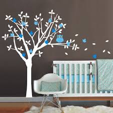 bird decorations for home 2017 new nursery vinyl wall decals tree and owl wall sticker kids