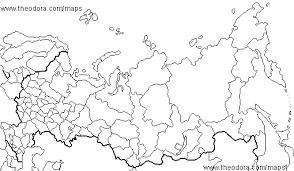 russia map black and white