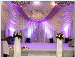 wedding backdrop font luxurious white purple 3m 6m marriage decoration font b wedding b