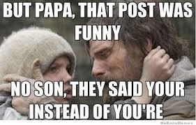 Grammar Meme - why i always triple check my grammar before posting to reddit