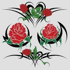 Tribal Tattoos With Roses - tribal tattoos