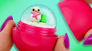 mini snow globe diy eos lip balm lol pinterest eos lip