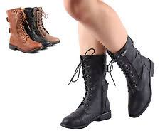 womens mid calf boots size 11 lace up boots ebay