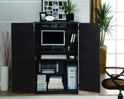 Black Computer Armoire Furniture Magic Computer Armoire For Home Office Ideas