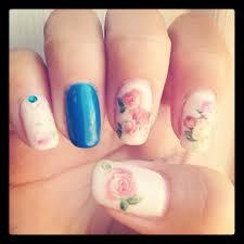 feminine antique rose nail design cameko world