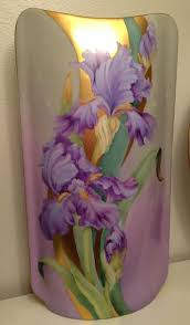 Vase With Irises Irene Graham Porcelain Artist Original Design Iris Vase With Roman