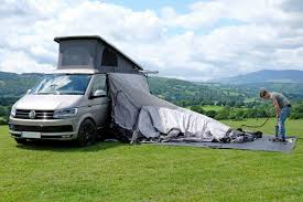 Vw T5 Awnings How To Attach A Vango Inflatable Awning To Your Van Just Pitch
