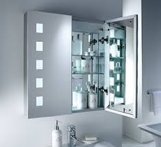 Bathroom Mirror With Lights by Furniture Decorative Corner Mirrored Medicine Cabinet Including
