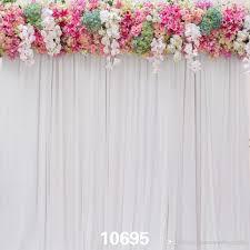 wedding vinyl backdrop 2018 gray curtains flowers indoor 5x7ft children baby wedding