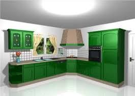 cuisine verte et marron verte