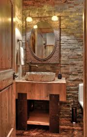 Stone Bathroom Vanities Rustic Powder Room Powder Room Rustic With Lodge Rustic Bathroom