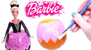 how to make a diy halloween barbie pumpkin barbie doll halloween