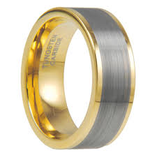 brushed gold wedding band gold tungsten carbide brushed finish wedding band ring size 8 13