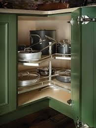 organize lazy susan base cabinet tripod corner susan clever storage by kesseböhmer