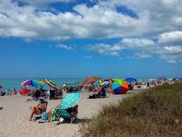 Blind Pass Beach Beach Umbrellas And Sunbathers At Blind Pass Beach