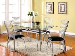 steel dining table set improbable stainless steel dining table set home design es of