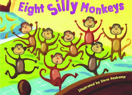 10 Monkeys Jumping On The Bed Amazon Com Bendon Publishing Eight Silly Monkeys Mini Board Book