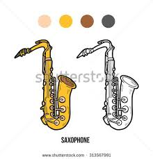 saxophone doodle hand drawn sketch vector stock vector 604647218