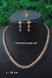 gold necklace sets designs images Griiham light weight daily wear one gram gold guranteed necklace set p jpg