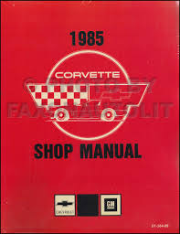 1984 1985 chevrolet corvette repair manual on cd rom