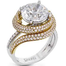 swirl engagement rings simon g 18k large center diamond engagement ring