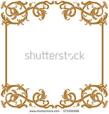 premium gold vintage baroque ornament frame stock vector 461176024