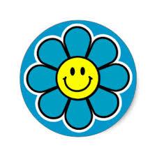 Smiley Flowers - custom smiley flower stickers zazzle co uk