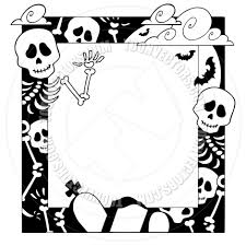 Cartoon Frame With Halloween Topic By Clairev Toon Vectors Eps