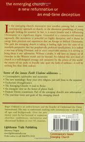faith undone the emerging church a new reformation or an end