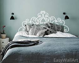 Headboard Wall Decal Queen Size Headboard Wall Decal Designing Home Inspiration Awesome